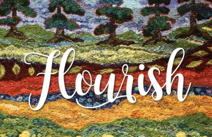 update alt-text with template Greeting Cards - Flourish-Gift Ideas-vendor-unknown-Rug Hooking Kit -Rug Hooking Pattern -Rug Hooking -Deanne Fitzpatrick Rug Hooking Studio -Is rug hooking the same as punch needle?