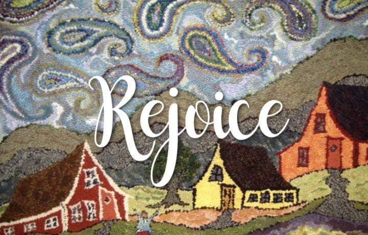 update alt-text with template Greeting Cards - Rejoice-Gift Ideas-vendor-unknown-Rug Hooking Kit -Rug Hooking Pattern -Rug Hooking -Deanne Fitzpatrick Rug Hooking Studio -Is rug hooking the same as punch needle?
