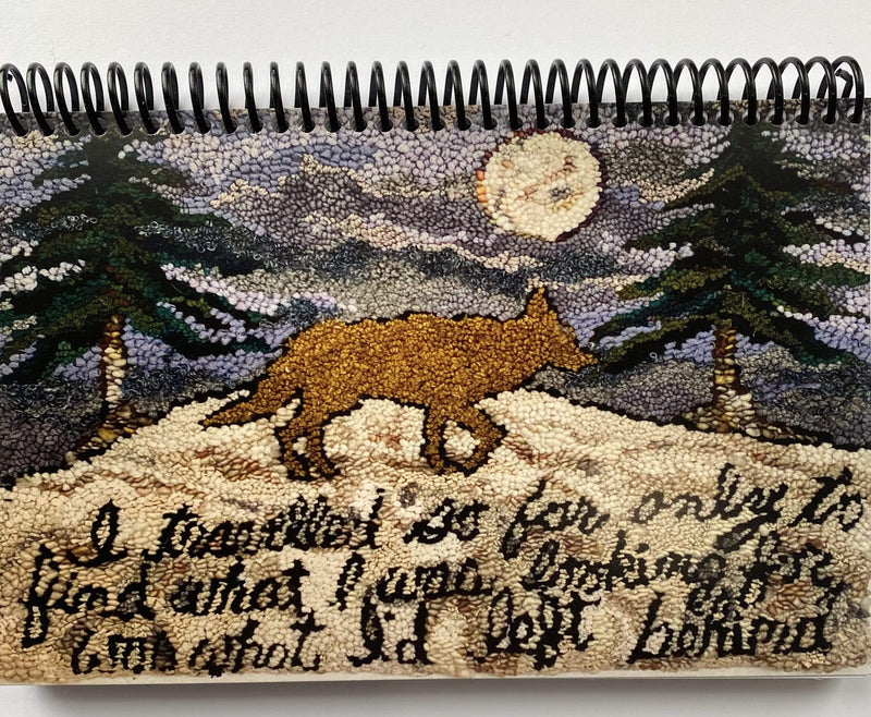 update alt-text with template Sketchbook - Coyote Coming Home-Gift Ideas-vendor-unknown-Rug Hooking Kit -Rug Hooking Pattern -Rug Hooking -Deanne Fitzpatrick Rug Hooking Studio -Is rug hooking the same as punch needle?