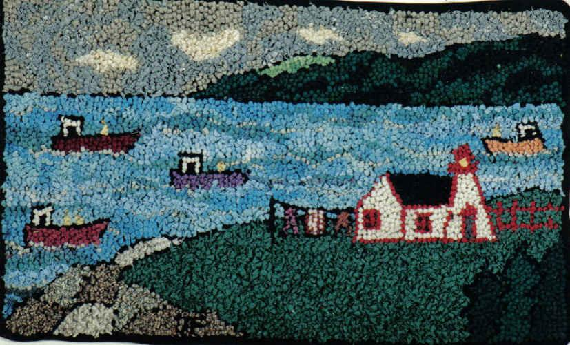 "update alt-text with template Lightkeeper - Rug Hooking Kit 18"" x 30""-Kits-vendor-unknown-Rug Hooking Kit -Rug Hooking Pattern -Rug Hooking -Deanne Fitzpatrick Rug Hooking Studio -Is rug hooking the same as punch needle?"