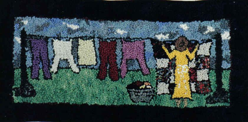 "update alt-text with template The Wash - Rug Hooking Kit 11"" x 17""-Kits-vendor-unknown-Rug Hooking Kit -Rug Hooking Pattern -Rug Hooking -Deanne Fitzpatrick Rug Hooking Studio -Is rug hooking the same as punch needle?"