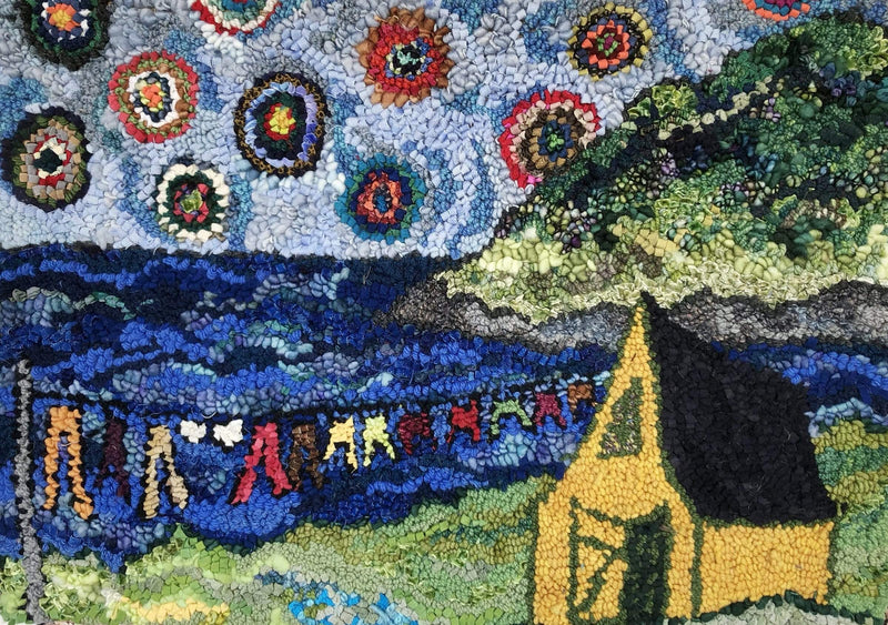 "update alt-text with template Wash Day on the Bay - Rug Hooking Kit 28"" x 21""-Kits-Deanne Fitzpatrick Rug Hooking Studio-Rug Hooking Kit -Rug Hooking Pattern -Rug Hooking -Deanne Fitzpatrick Rug Hooking Studio -Is rug hooking the same as punch needle?"