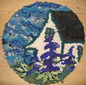"update alt-text with template Lupin Cottage Chairpad 13"" Round-vendor-unknown-Rug Hooking Kit -Rug Hooking Pattern -Rug Hooking -Deanne Fitzpatrick Rug Hooking Studio -Is rug hooking the same as punch needle?"