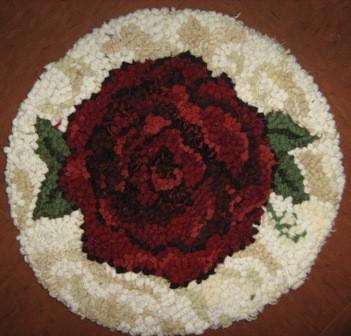 "update alt-text with template Old Rose Chairpad 13"" Round Pattern-vendor-unknown-Rug Hooking Kit -Rug Hooking Pattern -Rug Hooking -Deanne Fitzpatrick Rug Hooking Studio -Is rug hooking the same as punch needle?"
