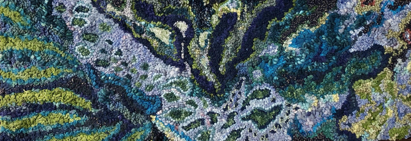 update alt-text with template Course Only for Sea Garden Abstract: Winter Online Class with Deanne Fitzpatrick 2020-Online Learning-Deanne Fitzpatrick Rug Hooking Studio-Rug Hooking Kit -Rug Hooking Pattern -Rug Hooking -Deanne Fitzpatrick Rug Hooking Studio -Is rug hooking the same as punch needle?