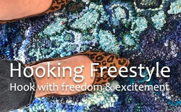 update alt-text with template Hooking Freestyle: Making Rugs with Creative Freedom-Online Learning-Deanne Fitzpatrick Rug Hooking Studio-Rug Hooking Kit -Rug Hooking Pattern -Rug Hooking -Deanne Fitzpatrick Rug Hooking Studio -Is rug hooking the same as punch needle?