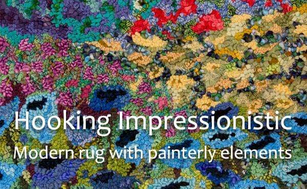 update alt-text with template Hooking Impressionistic Floral Gardens : Online Course with Deanne Fitzpatrick + Pattern-Online Learning-Deanne Fitzpatrick Rug Hooking Studio-Rug Hooking Kit -Rug Hooking Pattern -Rug Hooking -Deanne Fitzpatrick Rug Hooking Studio -Is rug hooking the same as punch needle?