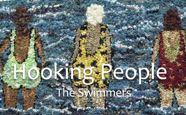 update alt-text with template Hooking People on a Small Scale: The Swimmers-Online Learning-vendor-unknown-Rug Hooking Kit -Rug Hooking Pattern -Rug Hooking -Deanne Fitzpatrick Rug Hooking Studio -Is rug hooking the same as punch needle?