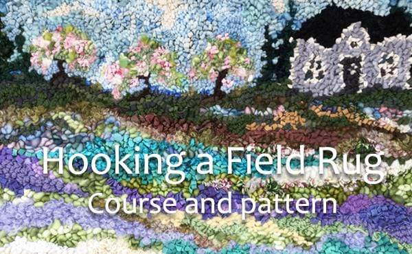 update alt-text with template Where the Orchard Blooms: Hooking Field Rugs, Course and Pattern-Online Learning-Deanne Fitzpatrick Rug Hooking Studio-Rug Hooking Kit -Rug Hooking Pattern -Rug Hooking -Deanne Fitzpatrick Rug Hooking Studio -Is rug hooking the same as punch needle?