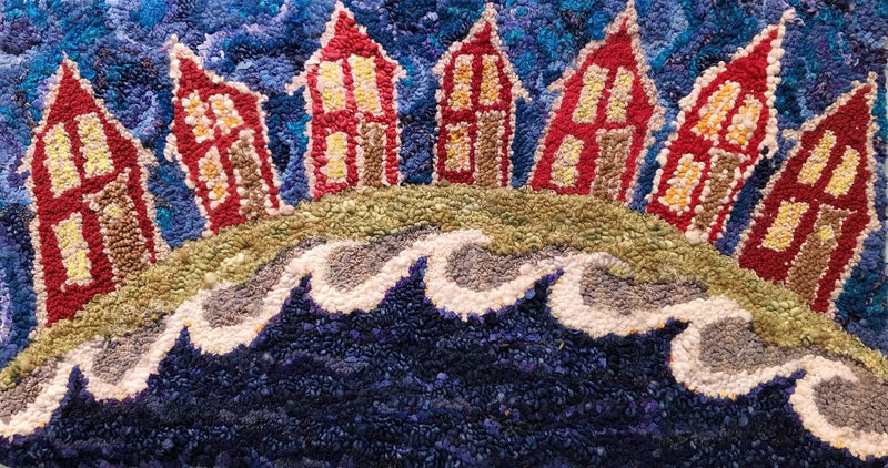 "update alt-text with template It's a Small World 21"" by 38""-Original Rugs-Deanne Fitzpatrick Rug Hooking Studio-Rug Hooking Kit -Rug Hooking Pattern -Rug Hooking -Deanne Fitzpatrick Rug Hooking Studio -Is rug hooking the same as punch needle?"