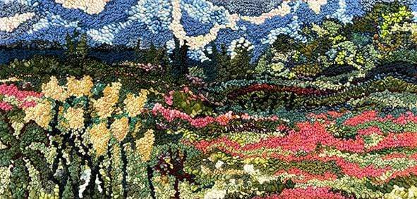 update alt-text with template Wild Flowers in the Glen #2-Original Rugs-Deanne Fitzpatrick Rug Hooking Studio-Rug Hooking Kit -Rug Hooking Pattern -Rug Hooking -Deanne Fitzpatrick Rug Hooking Studio -Is rug hooking the same as punch needle?