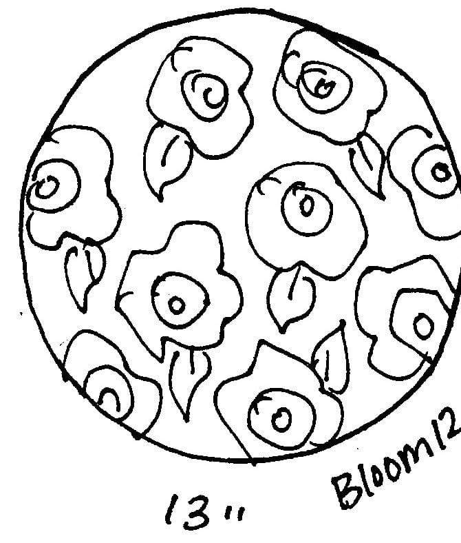 "update alt-text with template Bloom #12 - Rug Hooking Pattern 13"" Round-Patterns-vendor-unknown-Rug Hooking Kit -Rug Hooking Pattern -Rug Hooking -Deanne Fitzpatrick Rug Hooking Studio -Is rug hooking the same as punch needle?"