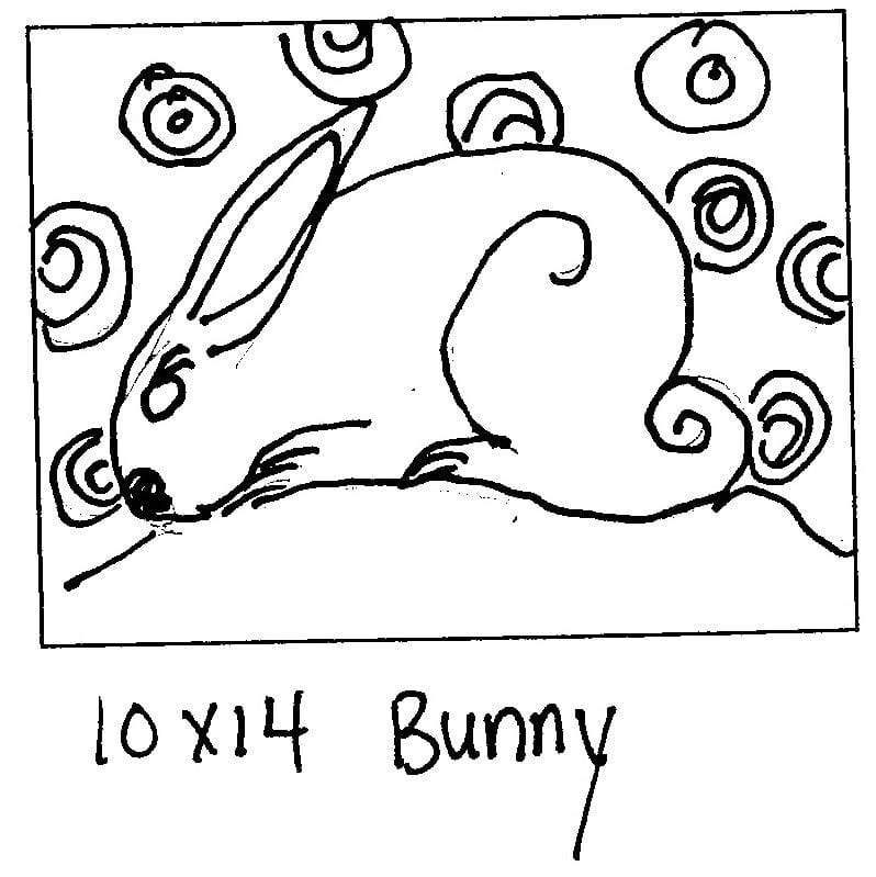 "update alt-text with template Bunny - Rug Hooking Pattern 10"" x 14""-Patterns-vendor-unknown-Rug Hooking Kit -Rug Hooking Pattern -Rug Hooking -Deanne Fitzpatrick Rug Hooking Studio -Is rug hooking the same as punch needle?"