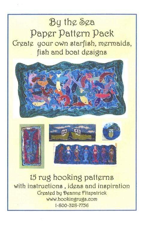update alt-text with template By the Sea Pattern Pack - 15 Rug Hooking Patterns: 9 pages downloadable product with BONUS full-size patterns.-Patterns-vendor-unknown-Rug Hooking Kit -Rug Hooking Pattern -Rug Hooking -Deanne Fitzpatrick Rug Hooking Studio -Is rug hooking the same as punch needle?