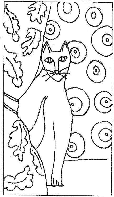 "update alt-text with template Cat in the Curtains - Rug Hooking Pattern 11"" x 19""-Patterns-vendor-unknown-Rug Hooking Kit -Rug Hooking Pattern -Rug Hooking -Deanne Fitzpatrick Rug Hooking Studio -Is rug hooking the same as punch needle?"