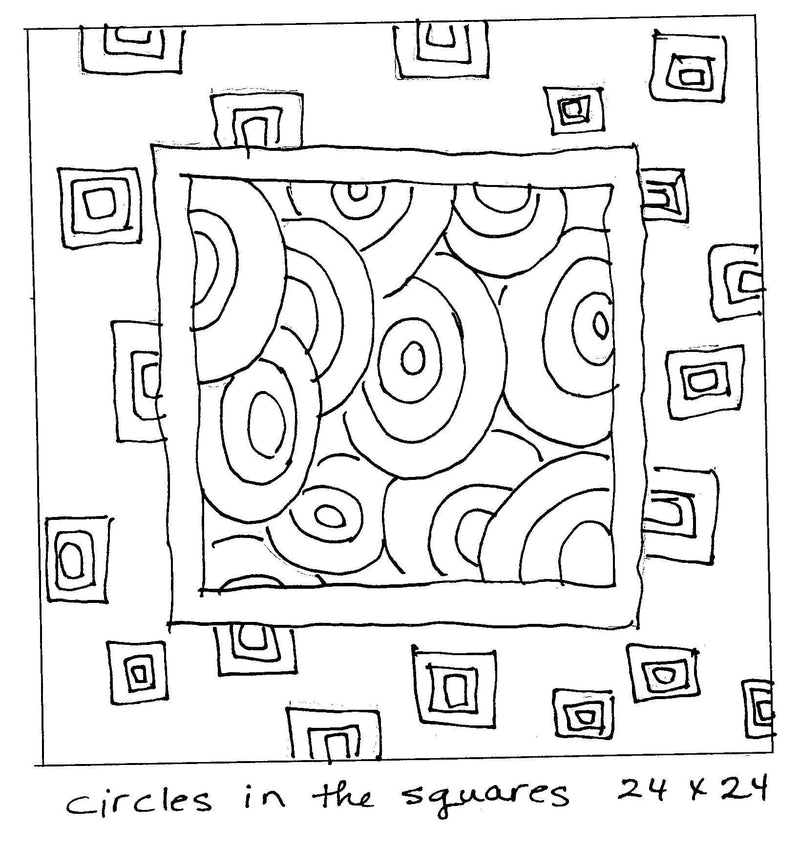 "update alt-text with template Circles in the Squares - Rug Hooking Pattern 24"" x 24""-Patterns-vendor-unknown-Rug Hooking Kit -Rug Hooking Pattern -Rug Hooking -Deanne Fitzpatrick Rug Hooking Studio -Is rug hooking the same as punch needle?"