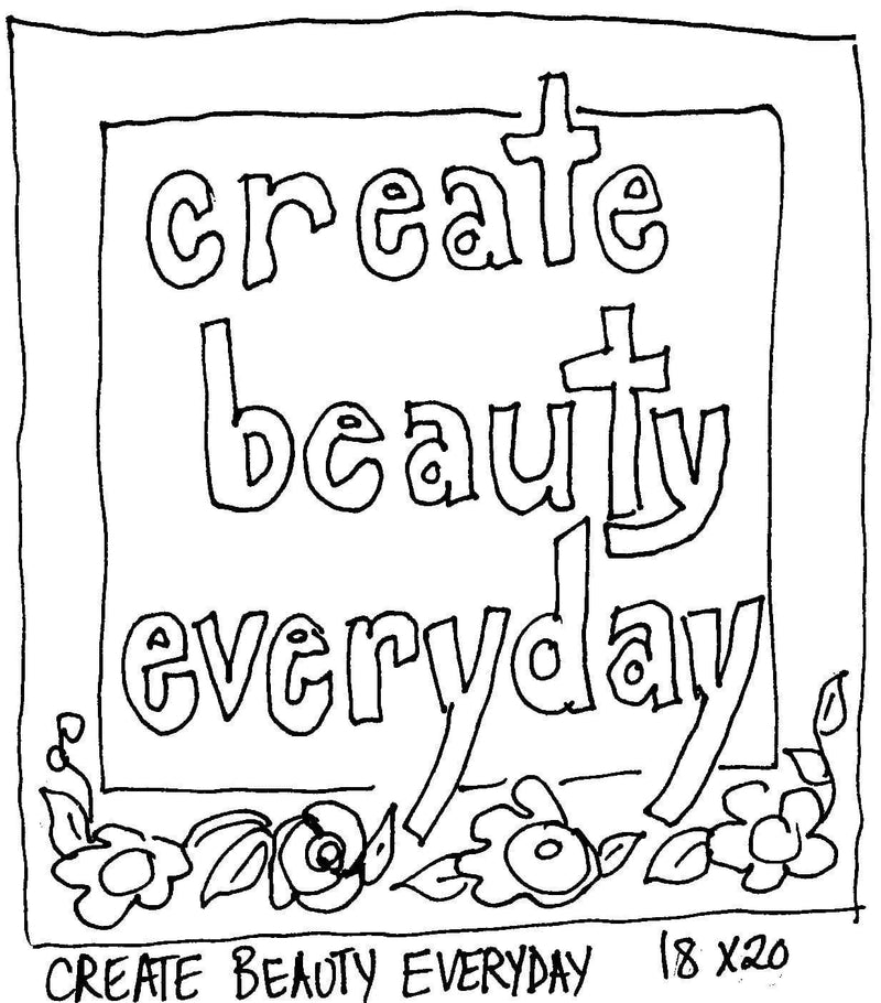 "update alt-text with template Create Beauty Everyday - Rug Hooking Pattern 18"" x 20""-Patterns-vendor-unknown-Rug Hooking Kit -Rug Hooking Pattern -Rug Hooking -Deanne Fitzpatrick Rug Hooking Studio -Is rug hooking the same as punch needle?"