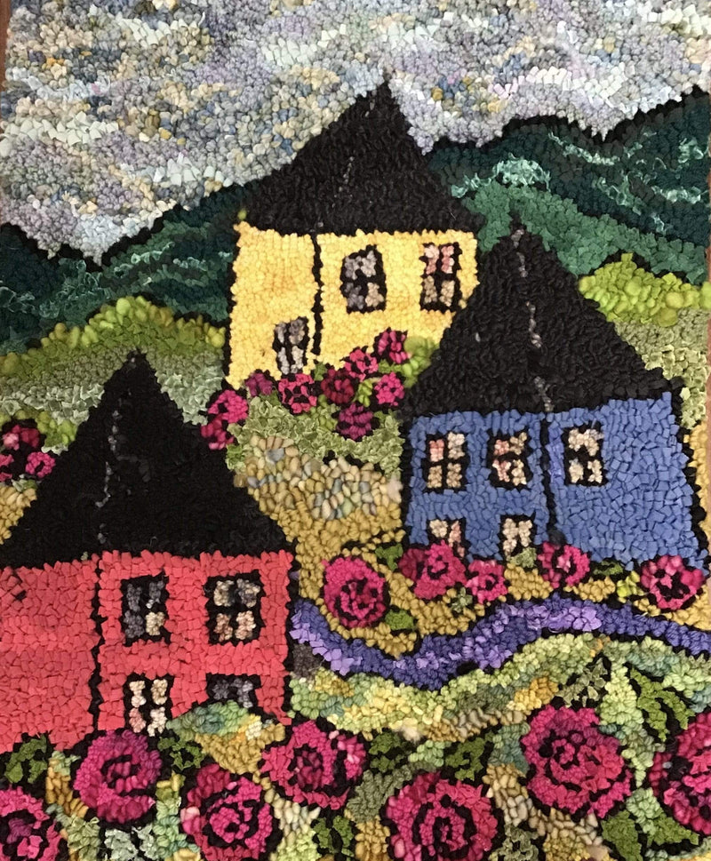 update alt-text with template Fairyland - Rug Hooking Pattern 27 x 21 on linen-Patterns-vendor-unknown-Rug Hooking Kit -Rug Hooking Pattern -Rug Hooking -Deanne Fitzpatrick Rug Hooking Studio -Is rug hooking the same as punch needle?