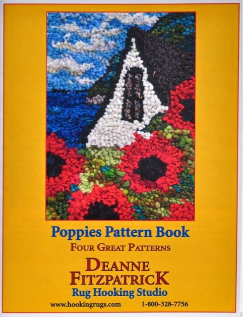 update alt-text with template Free Shipping Poppies Pattern Book-Patterns-vendor-unknown-Rug Hooking Kit -Rug Hooking Pattern -Rug Hooking -Deanne Fitzpatrick Rug Hooking Studio -Is rug hooking the same as punch needle?
