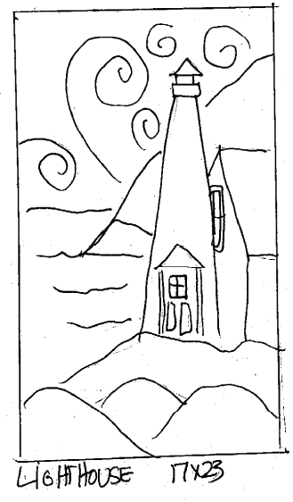 "update alt-text with template Lighthouse - Rug Hooking Pattern 17"" x 23""-Patterns-vendor-unknown-Rug Hooking Kit -Rug Hooking Pattern -Rug Hooking -Deanne Fitzpatrick Rug Hooking Studio -Is rug hooking the same as punch needle?"