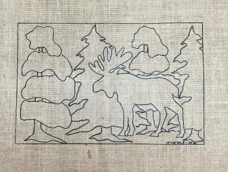 "update alt-text with template Moose in the Wild - Rug Hooking Pattern 11"" x 17""-Patterns-vendor-unknown-Rug Hooking Kit -Rug Hooking Pattern -Rug Hooking -Deanne Fitzpatrick Rug Hooking Studio -Is rug hooking the same as punch needle?"