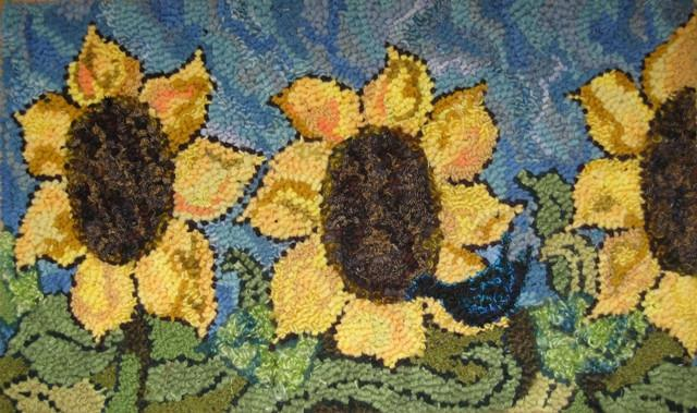 "update alt-text with template One and Only Sunflower - Rug Hooking Pattern 20"" x 30""-Patterns-vendor-unknown-Rug Hooking Kit -Rug Hooking Pattern -Rug Hooking -Deanne Fitzpatrick Rug Hooking Studio -Is rug hooking the same as punch needle?"