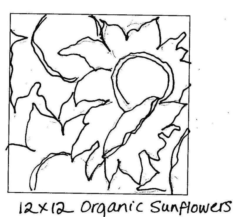 "update alt-text with template Organic Sunflowers #1 - Rug Hooking Pattern 12"" x 12""-Patterns-vendor-unknown-Rug Hooking Kit -Rug Hooking Pattern -Rug Hooking -Deanne Fitzpatrick Rug Hooking Studio -Is rug hooking the same as punch needle?"