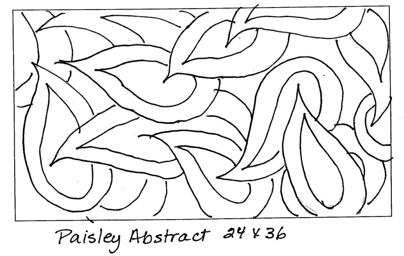 "update alt-text with template Paisley Abstract - Rug Hooking Pattern 24"" x 36""-Patterns-vendor-unknown-Rug Hooking Kit -Rug Hooking Pattern -Rug Hooking -Deanne Fitzpatrick Rug Hooking Studio -Is rug hooking the same as punch needle?"