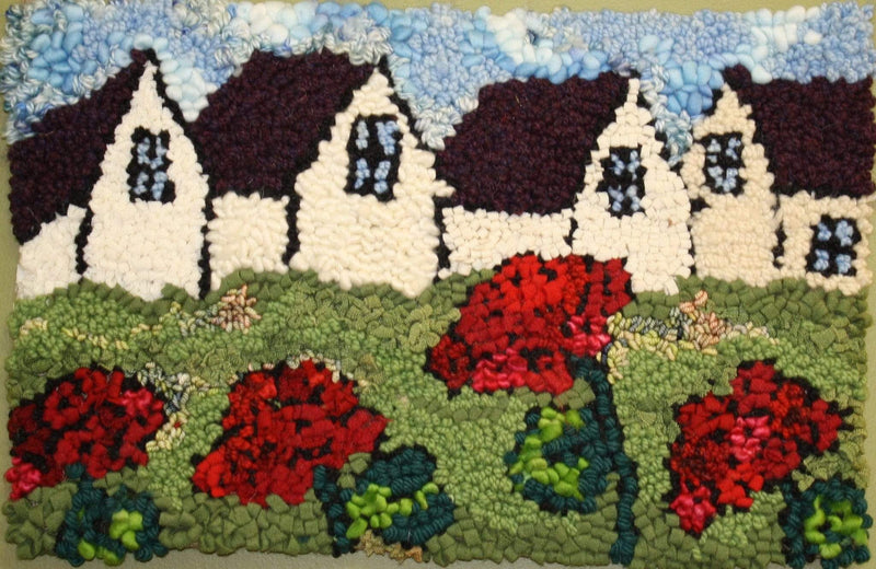 "update alt-text with template Planting geraniums - Deanne's 25th Anniversary Pattern - Rug Hooking Pattern 11"" x 17""-Patterns-vendor-unknown-Rug Hooking Kit -Rug Hooking Pattern -Rug Hooking -Deanne Fitzpatrick Rug Hooking Studio -Is rug hooking the same as punch needle?"