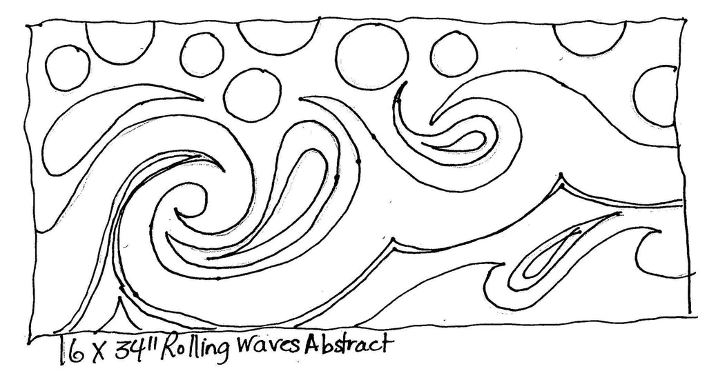 "update alt-text with template Rolling Waves Abstract - Rug Hooking Pattern 16"" x 34""-Patterns-vendor-unknown-Rug Hooking Kit -Rug Hooking Pattern -Rug Hooking -Deanne Fitzpatrick Rug Hooking Studio -Is rug hooking the same as punch needle?"