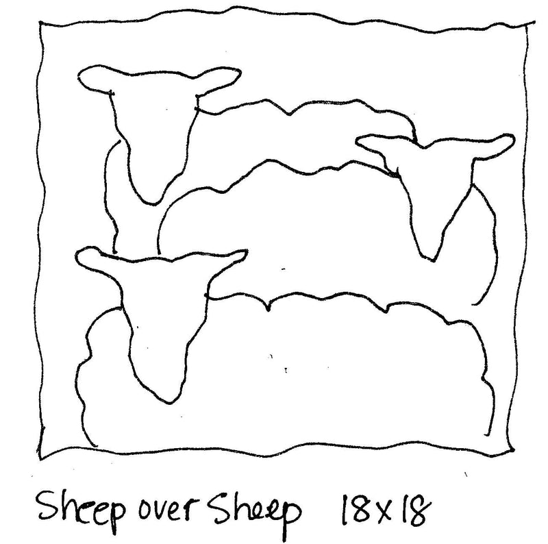 "update alt-text with template Sheep over Sheep - Rug Hooking Pattern 18"" x 18""-Patterns-vendor-unknown-Rug Hooking Kit -Rug Hooking Pattern -Rug Hooking -Deanne Fitzpatrick Rug Hooking Studio -Is rug hooking the same as punch needle?"