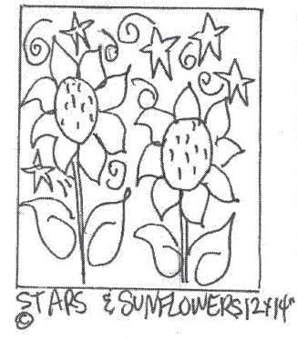 "update alt-text with template Stars and Sunflowers - Rug Hooking Pattern 12"" x 14""-Patterns-vendor-unknown-Rug Hooking Kit -Rug Hooking Pattern -Rug Hooking -Deanne Fitzpatrick Rug Hooking Studio -Is rug hooking the same as punch needle?"