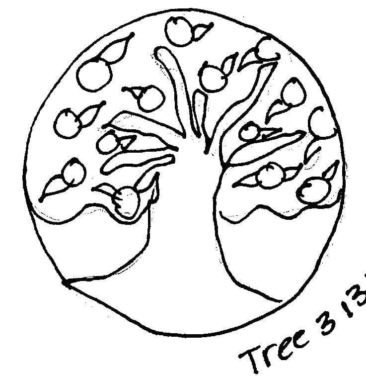 "update alt-text with template Tree #3 - Rug Hooking Pattern 13"" Round-Patterns-vendor-unknown-Rug Hooking Kit -Rug Hooking Pattern -Rug Hooking -Deanne Fitzpatrick Rug Hooking Studio -Is rug hooking the same as punch needle?"