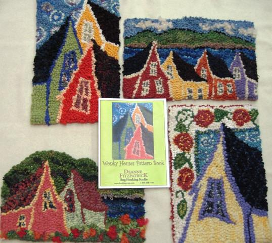 update alt-text with template Wonky Houses Pattern Book-Patterns-vendor-unknown-Rug Hooking Kit -Rug Hooking Pattern -Rug Hooking -Deanne Fitzpatrick Rug Hooking Studio -Is rug hooking the same as punch needle?