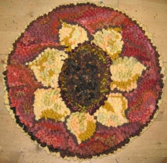 "update alt-text with template Sunflower Chairpad 13"" Round Pattern-vendor-unknown-Rug Hooking Kit -Rug Hooking Pattern -Rug Hooking -Deanne Fitzpatrick Rug Hooking Studio -Is rug hooking the same as punch needle?"