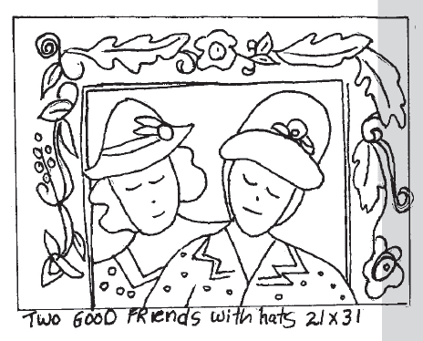 update alt-text with template Two Good Friends With Hats 21X31-vendor-unknown-Rug Hooking Kit -Rug Hooking Pattern -Rug Hooking -Deanne Fitzpatrick Rug Hooking Studio -Is rug hooking the same as punch needle?