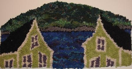 "update alt-text with template Two Peaks on the Bay 24 by 14"" Pattern-vendor-unknown-Rug Hooking Kit -Rug Hooking Pattern -Rug Hooking -Deanne Fitzpatrick Rug Hooking Studio -Is rug hooking the same as punch needle?"