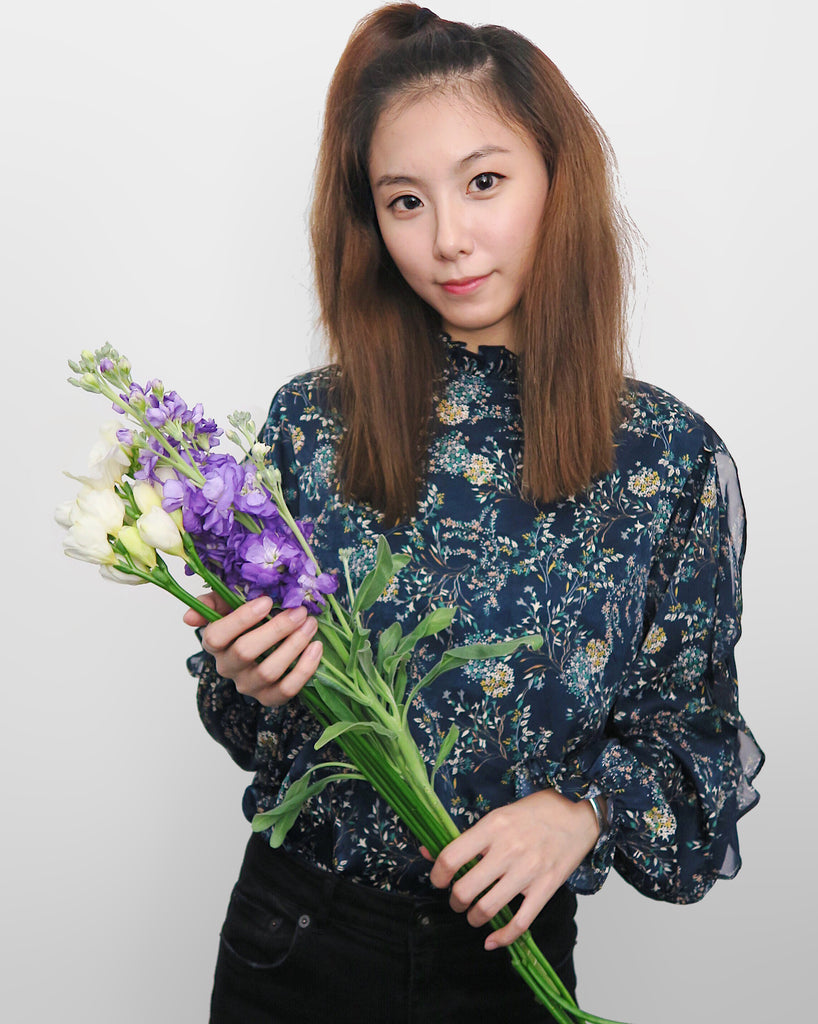 Floral Blouse - Navy | STYLEITNRY