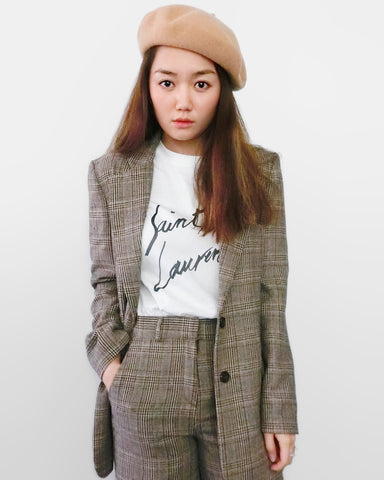 Checked Blazer - Brown [韓國女裝] - STYLEITNRY