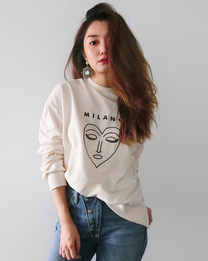 Milano Graphic Sweater - Cream [韓國女裝] - STYLEITNRY