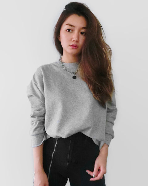 Goodbye Galaxy Graphic Sweater - Grey | STYLEITNRY