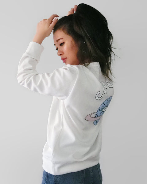Goodbye Galaxy Graphic Sweater - White | STYLEITNRY