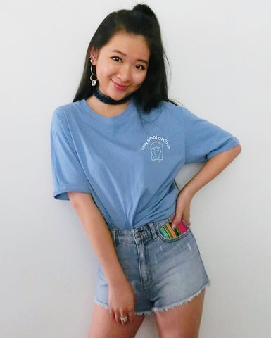 Only Cool Online Tee - Baby Blue [韓國女裝] - STYLEITNRY