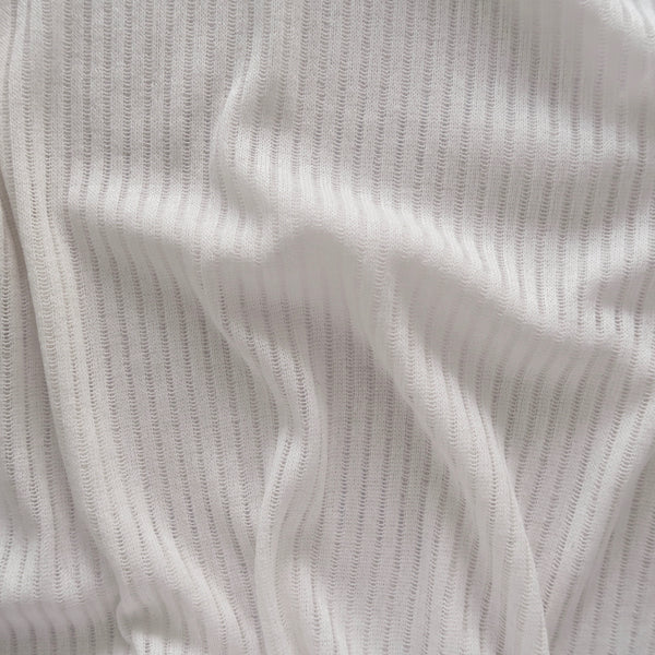 Ribbed Crew Neck Tee - Cream White [韓國女裝] - STYLEITNRY