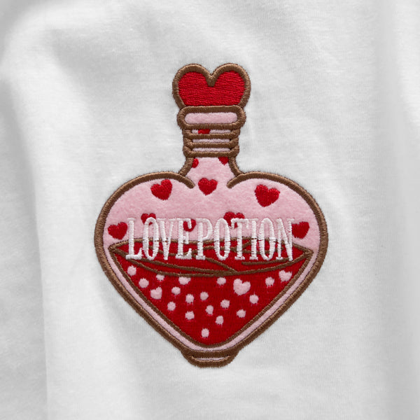 Love Portion Embroidered Tee - White | STYLEITNRY