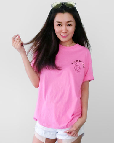 Only Cool Online Tee - Hot Pink | STYLEITNRY