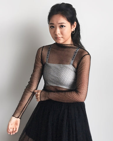 Fishnet Mesh Layering Top [韓國女裝] - STYLEITNRY