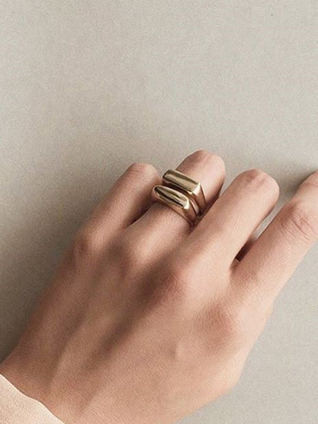 Simple Forms Rectangle Signet Ring