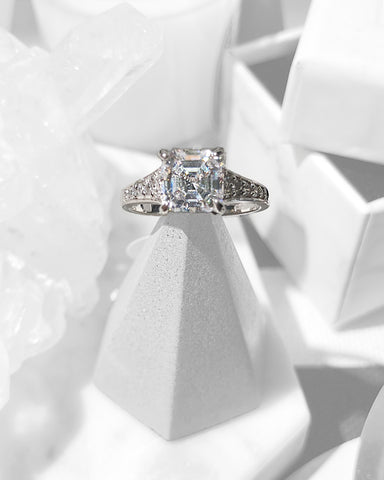1895 Solitaire Platinum Vermeil Ring | STYLEITNRY