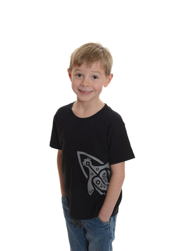 Kids' black t-shirt